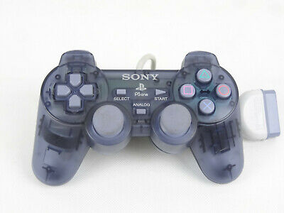 Official PS1 PsOne PlayStation 1 One Dual Shock SCPH-110 Blue Clear