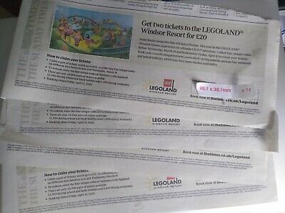Vouchers to claim 2 x tickets for Legoland Windsor for £20