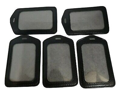 Lot of 5 Travel Luggage tags -black