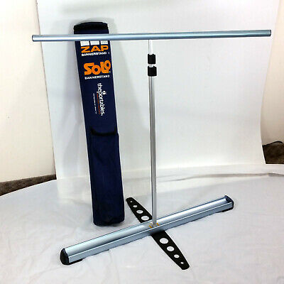 """Zap Solo Banner Stand Portable Bannerstand Full Size 35"""" With Carrying Case"""