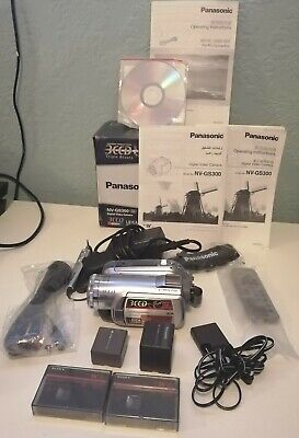 Panasonic NV-GS300 3CCD Mini-DV Digital Camcorder Perfect Condition