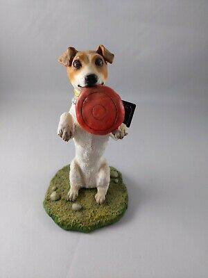 'My Dog' Collectible Jack Russell Terrier w/Frisbee, Standing Figurine
