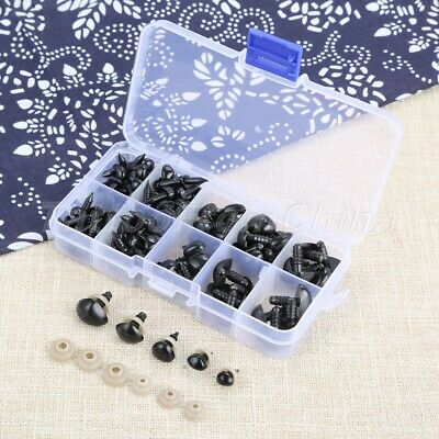 125Pcs Plastic Safety Noses Doll Puppet Black Triangle DIY Craft Accessories