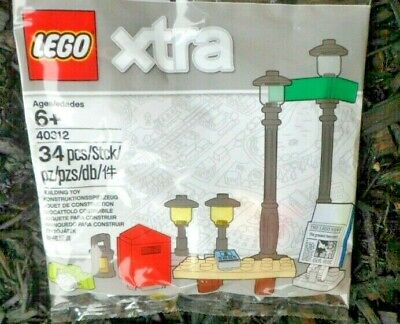LEGO Xtra Bag Vehicles Pack Street Lamps Mailbox Newspaper 40312 NEW
