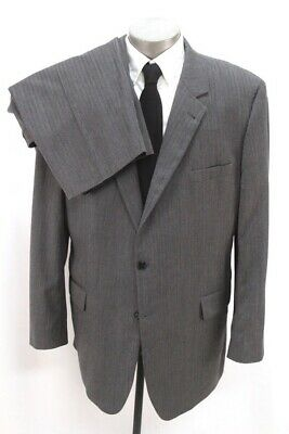 mens gray herringbone JOS A BANK 2pc PANT SUIT signature two button wool 50 L