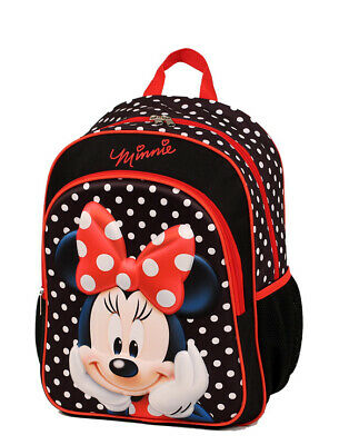 """New Officially Licensed Disney Minnie Mouse 15""""  Kids Backpacks"""