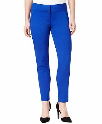 XOXO Cobalt Blue Size 1 /2 Junior Ankle Trouser Stretch Dress Pants $39 662