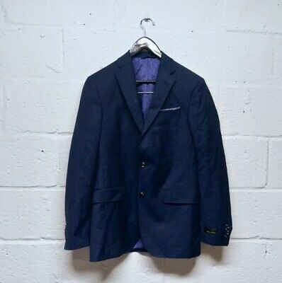 Ted Baker Endurance Trevi Slim Fit Wool Navy Blue Blazer Size Men's 36R