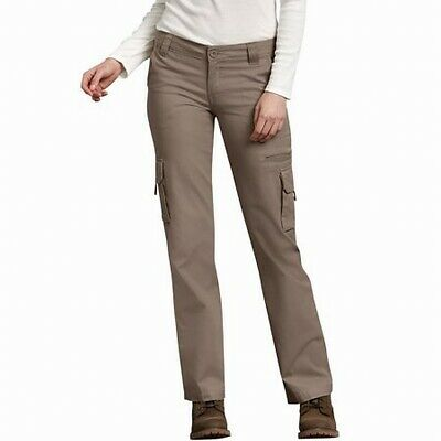 Dickies Womens Pants Brown Size 12 Cargo Relaxed-Fit Straight-Leg $64- 139