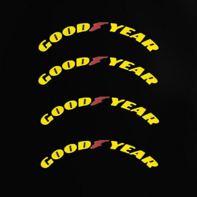 Permanent Tire Lettering Decals Stickers GOODYEAR 15''-22'' 4 sets 1.38''