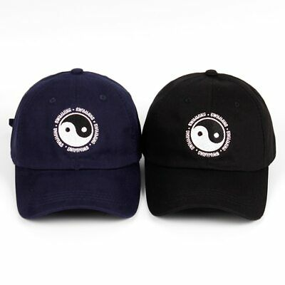 Unisex Baseballcap Mac Miller Swimming Yin and Yang Embroidered Cotton Dad Hat
