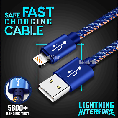 Fast Charging Lightning Data Cable For Apple iPhone 11 Pro XR XS Max  X 7 8 6 SE
