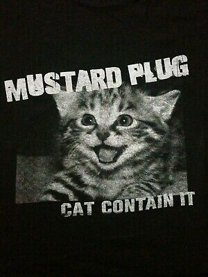 MUSTARD PLUG Ska Band T-Shirt Black Medium Ska-Punk Warped 90s
