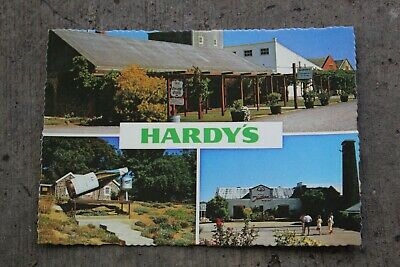 HARDY'S McLaren Vale SA Winery Postcard Vintage 70s Australia Multi-view Card