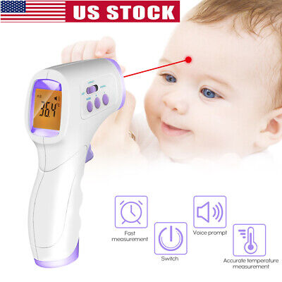 LCD Digital Non-contact IR Infrared Thermometer Forehead & Ear Temperature Meter