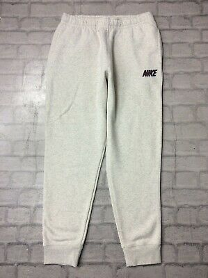 Nike Mens Uk M Fleece Graphic Joggers Beige Track Pants Sweatpants J