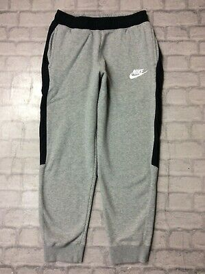 Nike Mens Uk M Hybrid Fleece Joggers Grey Black Track Pants J