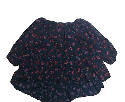 NEXT GIRLS' NAVY DITSY PEASANT BLOUSE 3 YEARS Brand  FAST SHIPPING UK SELLER