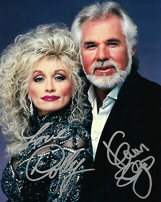 Dolly Parton & Kenny Rogers dual Signed 8x10 Autographed Photo reprint