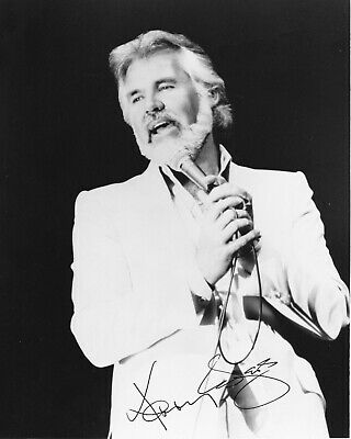 "Kenny Rogers dual Signed 8x10 Autographed Photo reprint ""The Gambler"""