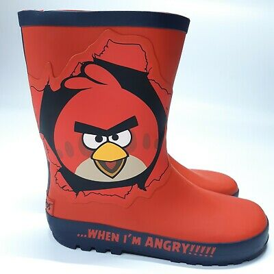 Marks & Spencer RRP £16 Angry Birds Wellies Wellington Rain Boots Boys Girls New