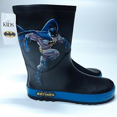 Marks & Spencer RRP £16 Batman Older Kids Wellies Wellington Boots Boys Girls