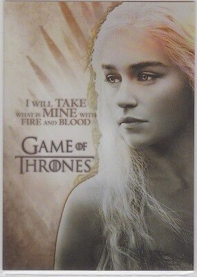 Game Of Thrones Season 2 Pl3 Gallery Insert Emilia Clarke As Daenerys Targaryen