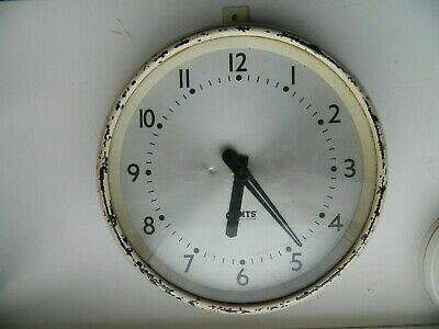 Vintage Retro GENTS'  of  Leicester  Industrial / Office  Wall Clock  240 Volts
