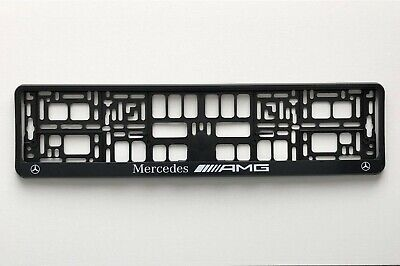 MERCEDES - AMG Number Plate Surrounds - Holders - Frames (PAIR)