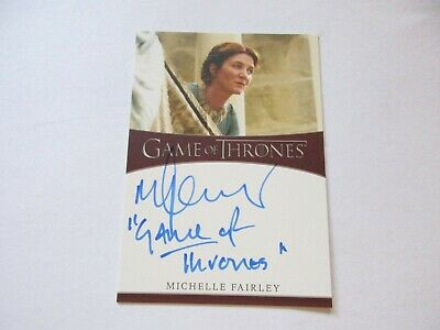 Game of Thrones Season 8 Michelle Fairley / Catelyn Inscription Autograph Card C