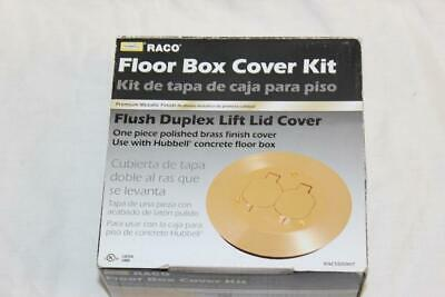 Raco RAC5500KIT Round Floor Box Cover Kit with Two Lift Lids - Solid Brass  NEW!