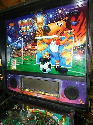 Williams Bally World Cup Soccer pinball machine real nice fully shopped LEDS