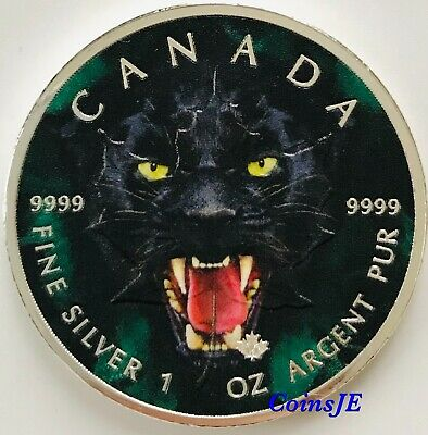 2019 BLACK PANTHER 1 oz .9999 Silver Coin 5$ Canada Maple Leaf Colorised Coin