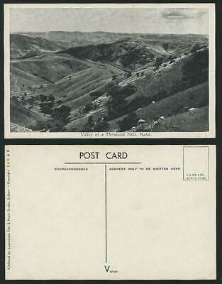 NATAL Valley of a Thousand Hills Old Postcard S. Africa