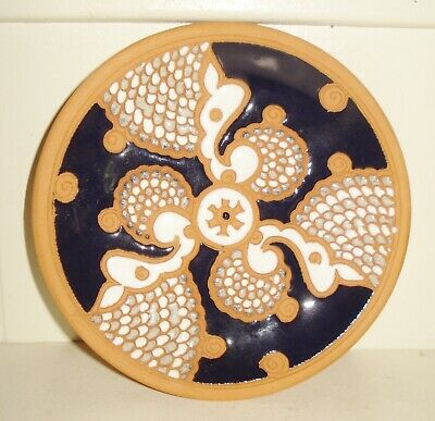 Vintage  Greek Pottery Talavera Plate  Signed Bonis Design Nr