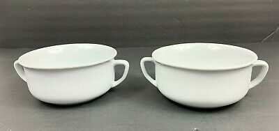 Lot of 2 Williams Sonoma Essential White 2 Handled Soup Cereal Bowls