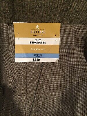 Stafford Executive Suit Separates Classic Fit 42 X 30 Pants