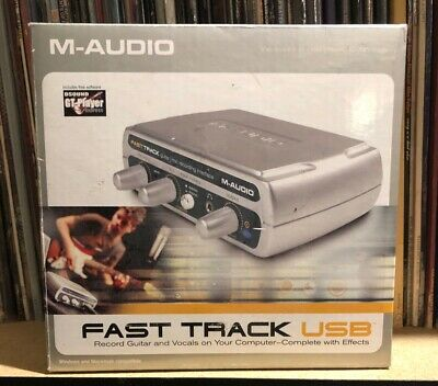 M-Audio Fast Track USB Guitar / Microphone Home Recording Interface Silver
