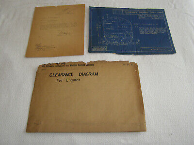 "Vint. Delaware,Lackawanna+Western Railroad ""Engines"" Set Of 4 Blueprints-1922,29"