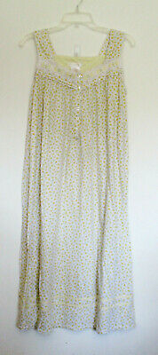 Secret Treasures White Sleeveless Gown with Yellow Flowers, Size M (8-10)