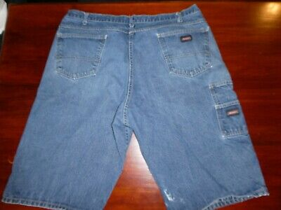 Mens Dickies Carpenter Loose Fit Work Faded Blue Jean Shorts Size 42