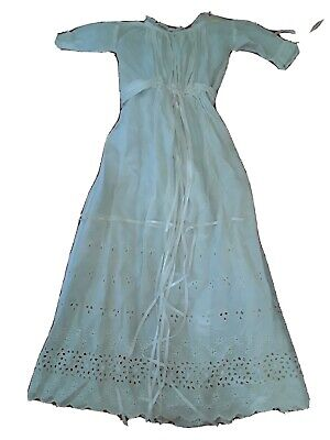 Victorian Antique Christening Gown w. cut embroidery detail VERY FINE