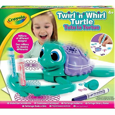 Crayola Twirl N Whirl Turtle Childrens Creative Craft Colouring Pens Electronic