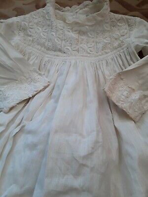 Victorian Antique Christening Gown with fine embroidery detail