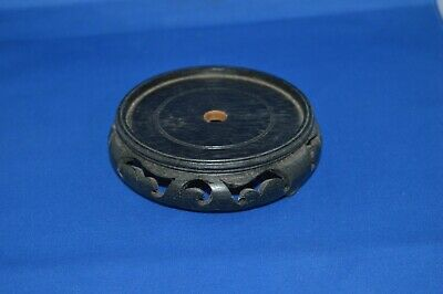 Antique Chinese Carved Hard Wood Vase Bowl Stand