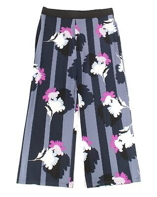 Alfani Womens Pants Blue Size 2X Plus Floral Print Wide Leg Stretch $69 277