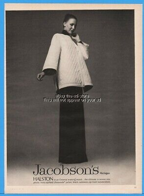 1973 Jacobsons Halston Oriental Evening Gown Womens Fashion Clothing Ad