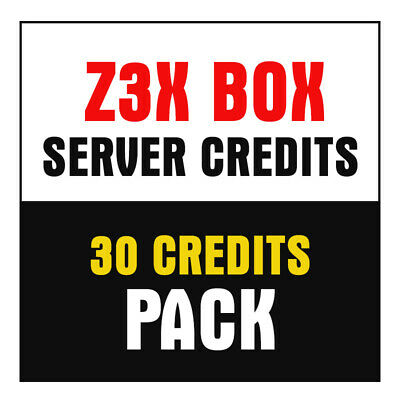 Z3X Server Credits pack (30 Credits) New User or Refill.
