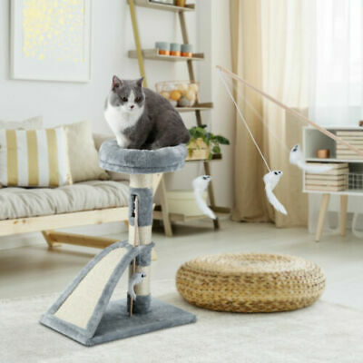 """26"""" Cat Tree Tower Condo Furniture Sisal Scratch Pad Post Kitty Pet Play House"""