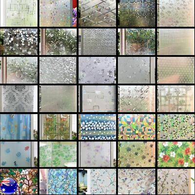 Static Cling Glueless Reusable Removable Privacy Frosted Decor Window Glass Film